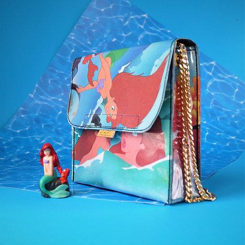 Disney's ARIEL Handtasche groß Märchenbuch upcycling (vorne)
