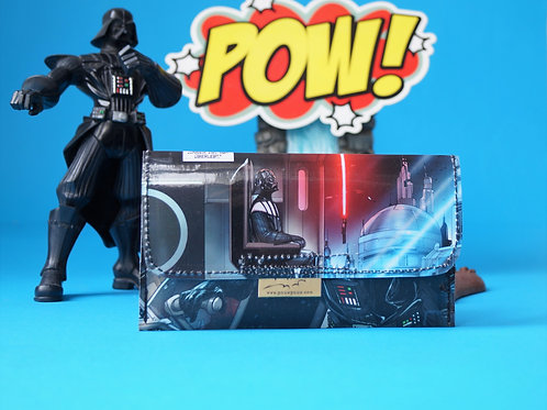 STAR WARS & DARTH VADER Tabaktasche Comic upcycling Unikat (vorne)