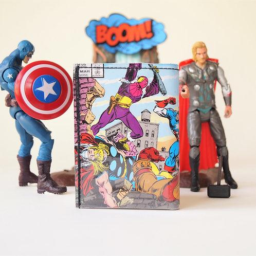 AVENGERS Portemonnaie Marvel Comic upcycling Unikat (vorne)