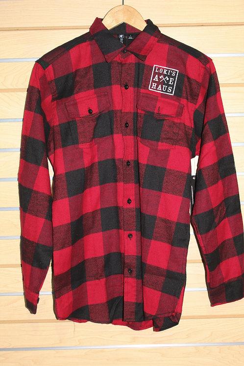 Red Plaid Loki's Axe Haus Shirt
