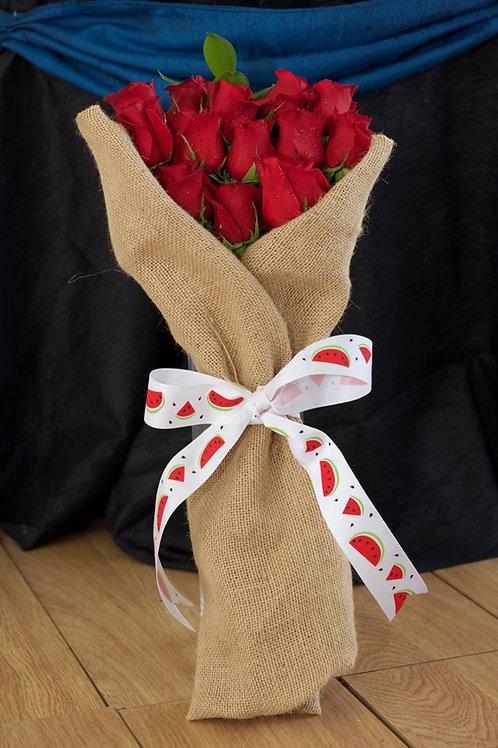 Rosas Rojas Henequen