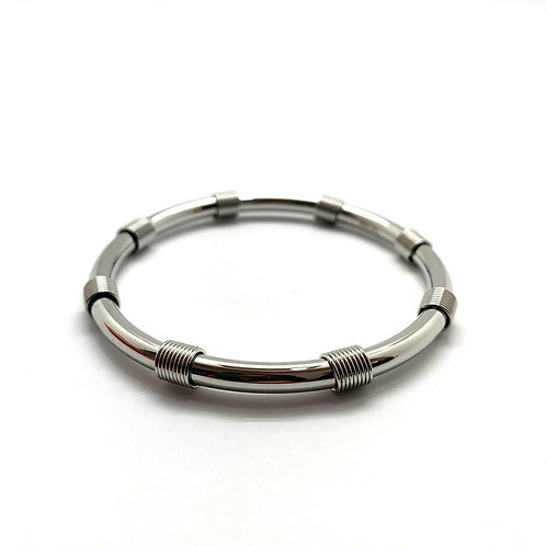 "Bangle bracelet stainless steel ""Aimée"""