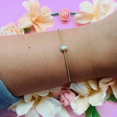 Jonc bracelet|femme acier plaqué or|ZOÉ by HerlinG