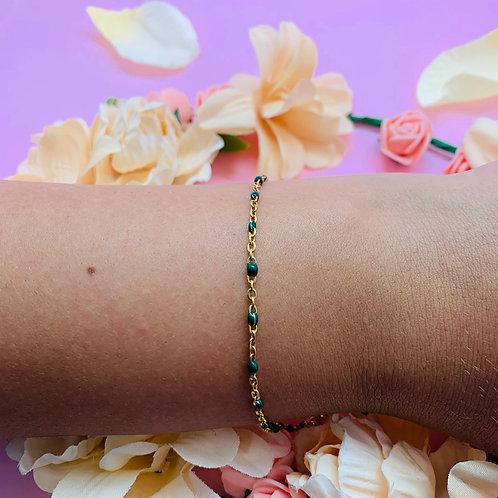 Bracelet chaine femme original acier plaqué or Zoé by HerlinG
