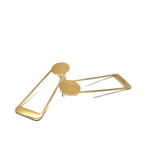 "Fashion women's earrings 18K gold plated stainless steel ""Astrid"""