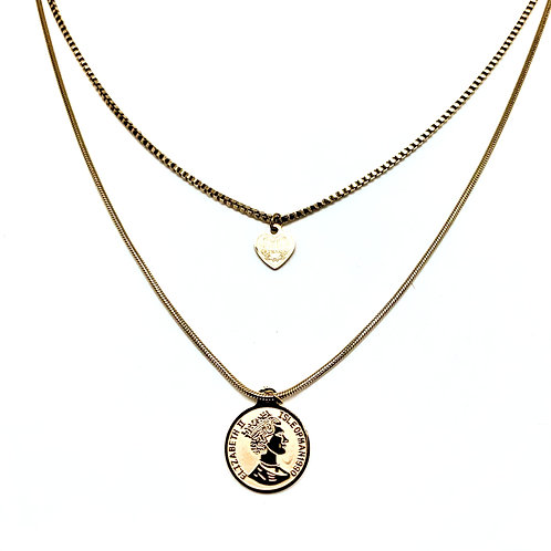 Collier chaine pendentif femme acier inoxydable ZOÉ by HerlinG