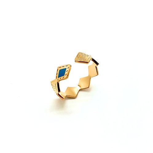 Bague femme plaqué or|bijou bague émaille|ZOÉ by HerlinG