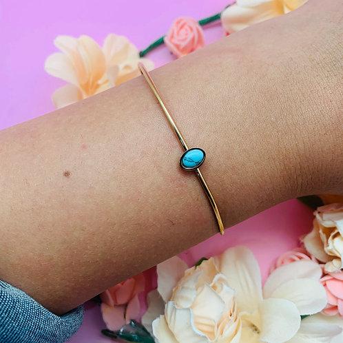 Jonc bracelet femme acier plaqué or|ZOÉ by HerlinG