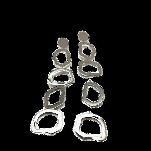 "Trendy women earrings ""Neptune"" stainless steel"