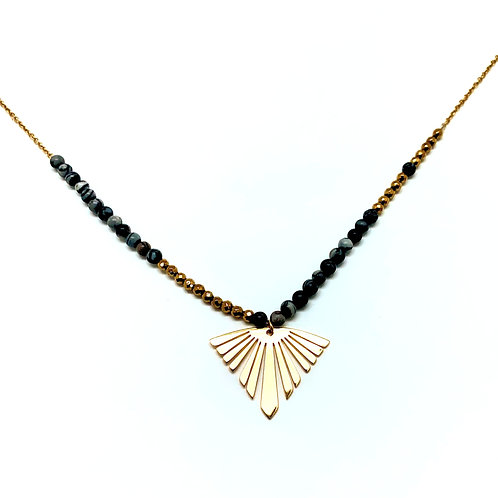Collier pendentif femme acier inoxydable ZOÉ by HerlinG