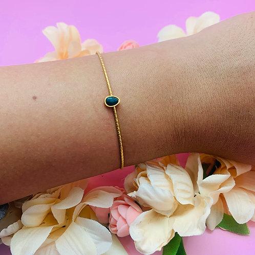 Bracelet Jonc|fin femme acier plaqué or|ZOÉ by HerlinG
