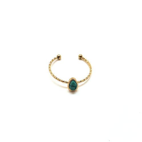 Bague femme plaqué or|bijou bague pierre couleur|ZOÉ by HerlinG