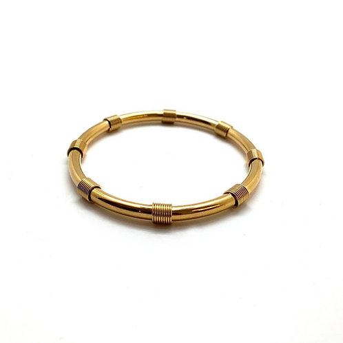 "18K gold-plated bangle for women ""Athyla"""