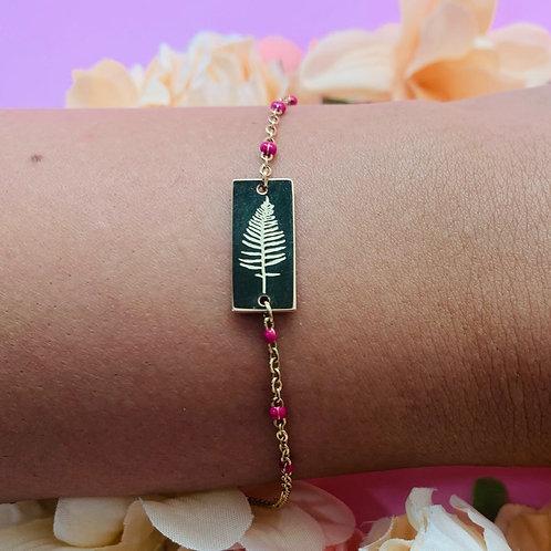 Bracelet femme original acier plaqué or Zoé by HerlinG