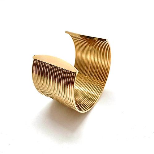 """Bracelet jonc femme acier inoxydable plaqué or 18K """"Egée"""""""