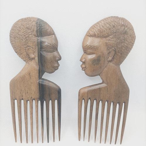 Peigne afro en ébène