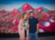 Dice Mural, Fremont Street wedding, Las Vegas, The Roving Reverend