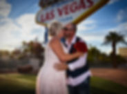 Wedding at the famous Welcome to Fabulous Las Vegas sign, Las Vegas, The Roving Reverend