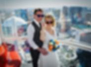 High Roller Observation Wheel wedding, Las Vegas, The Roving Reverend