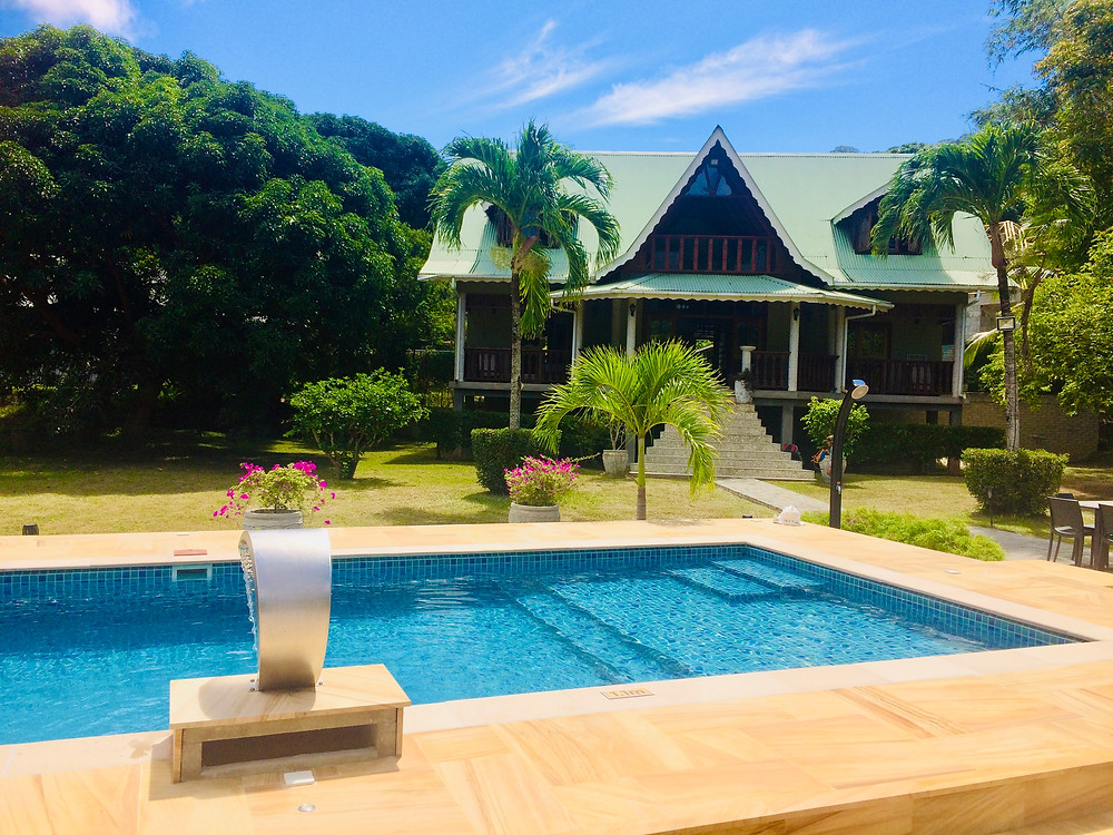 Private 5 bedroom house with pool on La Digue