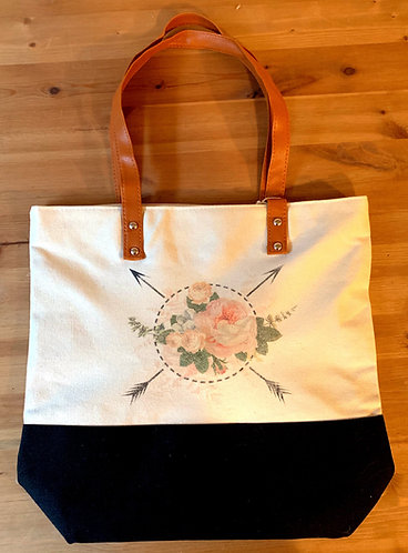 Downtown Shopping Tote - Flower Arrows
