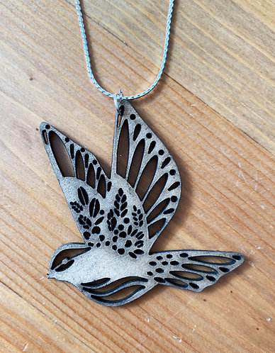 Wooden It Be Nice Necklace - Bird I