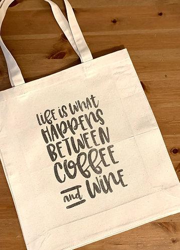 Seaside Shopping Bag -Life/Wine