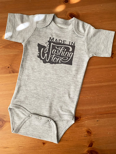 Grey Baby Bodysuit - Made in Washington