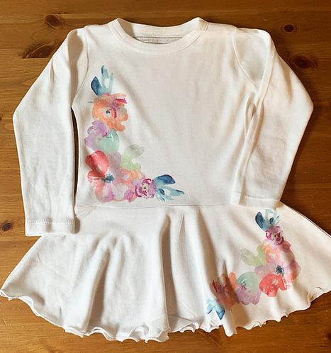 Watercolor Flowers Infant Dress