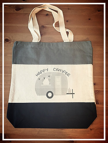 Nob Hill Shopping Bag - Happy Camper
