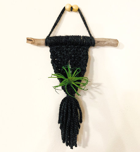 Hello Darkness Macrame Air Plant Holder