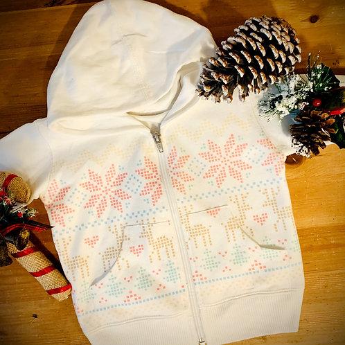 Reindeer FairIsle Full Zip Hoodie