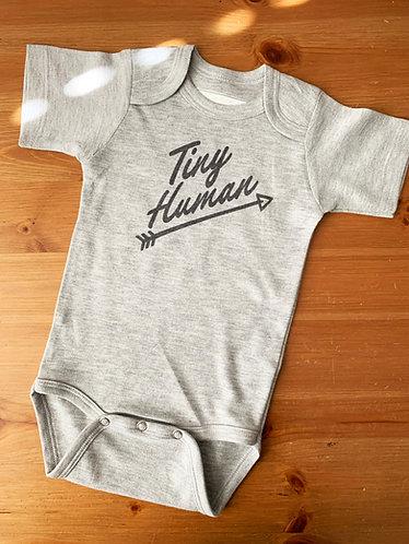 Grey Baby Bodysuit - Tiny Human