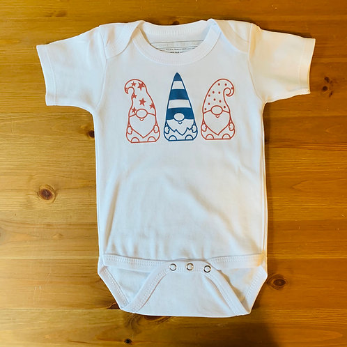 SS 4th Of July Gnomes Bodysuit