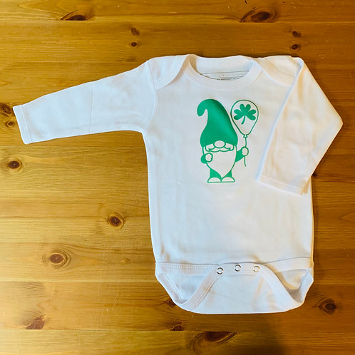 LS St Patty's Day Gnome Bodysuit
