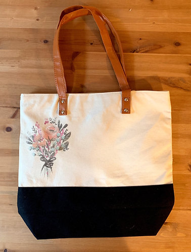 Downtown Shopping Tote - Flower Bouquet