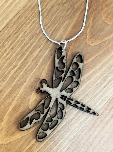Wooden It Be Nice Necklace - Dragonfly