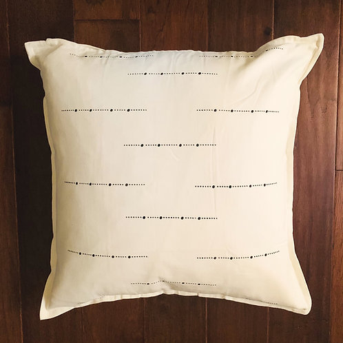 Three Rivers Throw Pillow Cover - Dots
