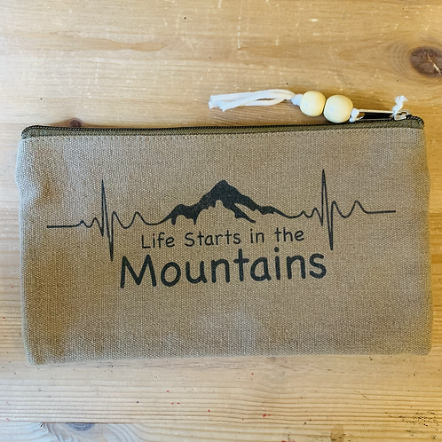 Olympic Pouch - Life Starts in the Mountains