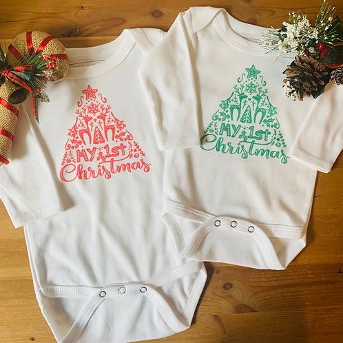 Baby Christmas LS Bodysuit - My 1st Christmas