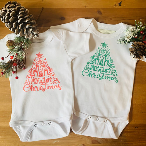 Baby Christmas SS Bodysuit - My 1st Christmas
