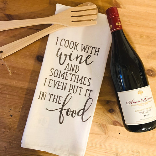 Kennewick Kitchen Towel - Cook With Wine