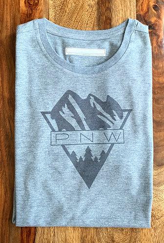Men's Grey Graphic Tee - PNW
