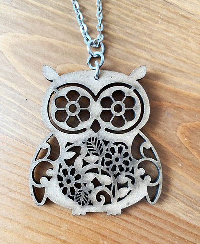 Wooden It Be Nice Necklace - Owl I
