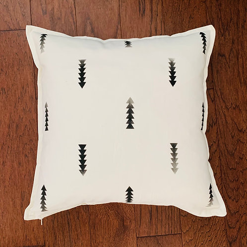 Three Rivers Throw Pillow - Arrows