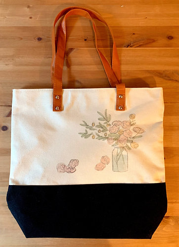 Downtown Shopping Tote - Flower Vase