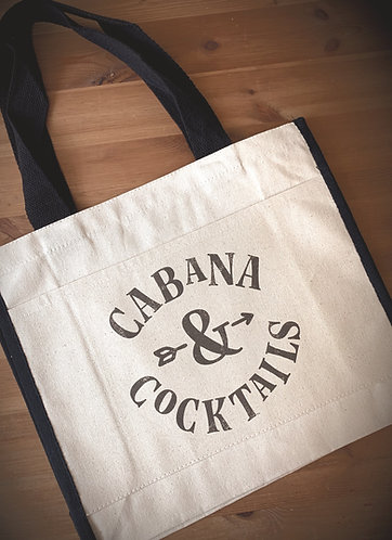 Seabrook Tote Bag - Cabana & Cocktails