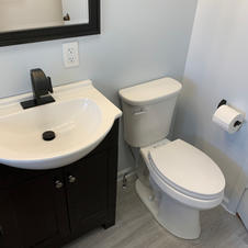 Vanity/toilet install
