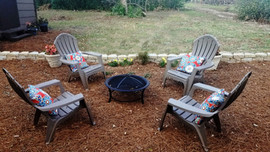 Firepit and Garden Swing