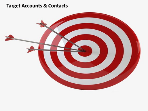 Key factors to be considered while building target accounts and contacts.